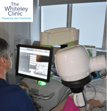 Victoria Jenkins during the Echotherapy Treatment, exclusively available at The Whiteley Clinic
