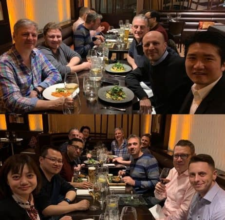 1st Endovenous Microwave Course for varicose veins treatment in Europe – 12-13 April 2019 – Whiteley Clinic and College of Phlebology – Dinner montage
