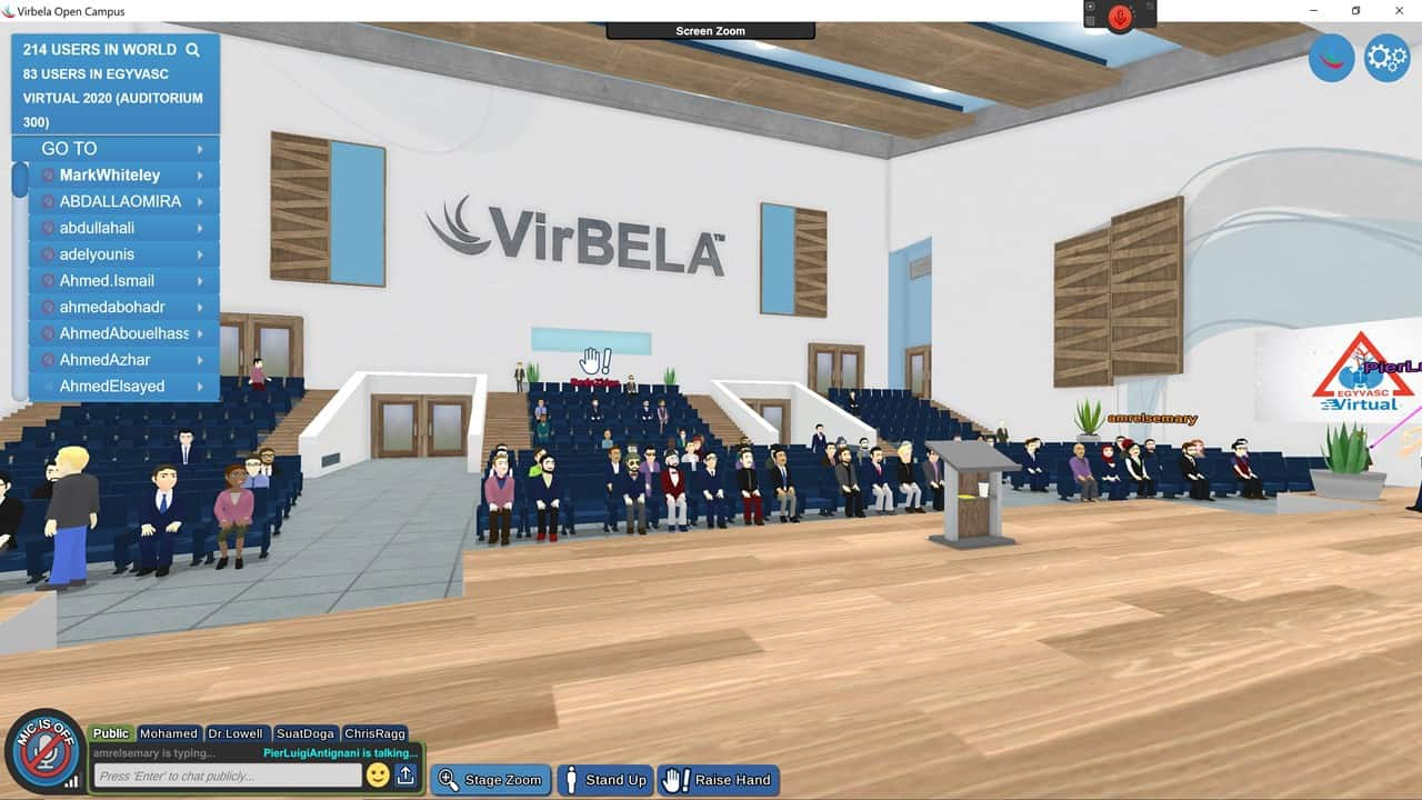 1st Virtual Veins Conference in the World EgyVasc 2020 – View from the stage