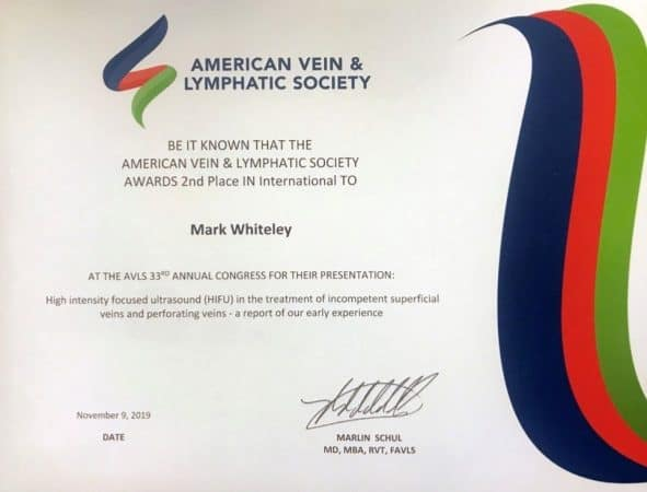 2nd Prize Certificate from the AVLS in November 2019