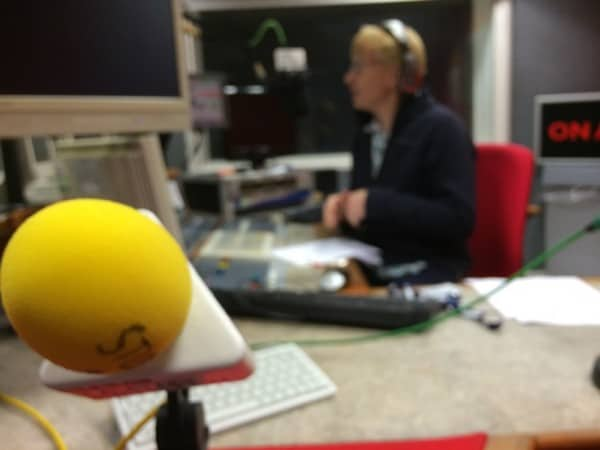 About to start interview with Dr Phil Hammond on BBC Radio Bristol about varicose veins and leg ulcers