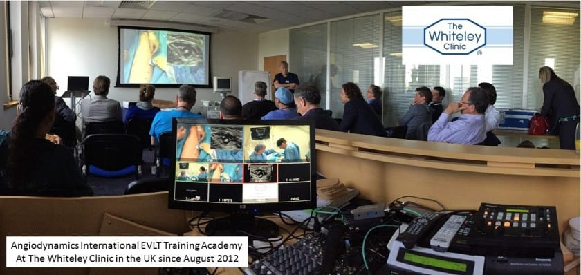 Angiodynamics International EVLT Training Academy - at The Whiteley Clinic in UK since August 2012