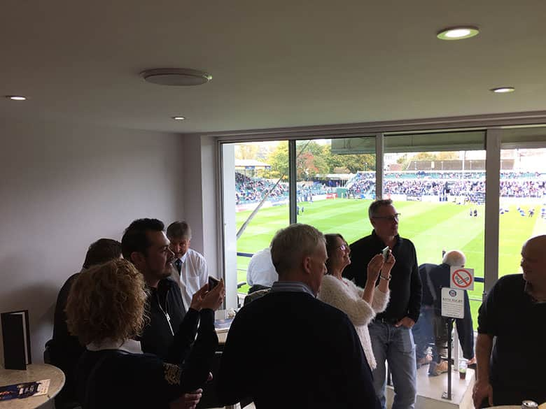 Bath Rugby v Worcester Warriors - The Whiteley Clinic were match day sponsors 7th October 2017 in the Box