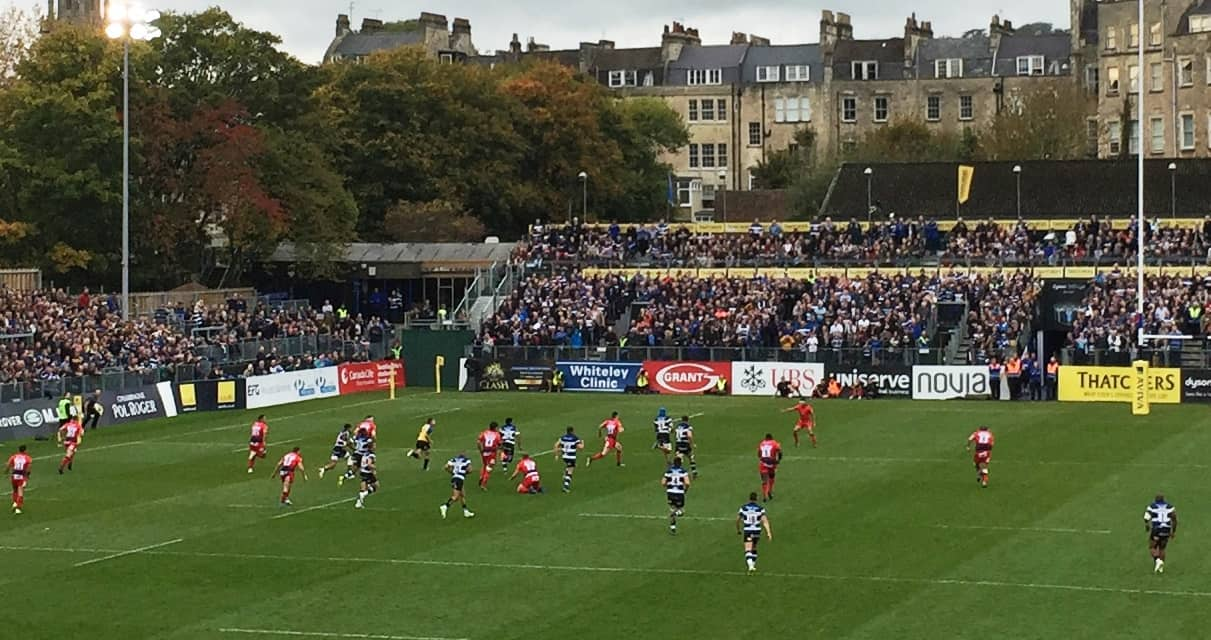 Bath Rugby v Worcester Warriors - The Whiteley Clinic were match day sponsors 7th October 2017