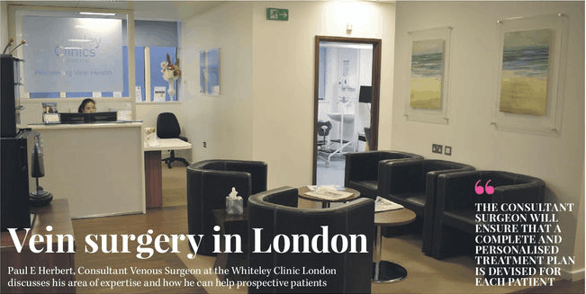 Healthcare Innovations magazine - Vein Surgery in London