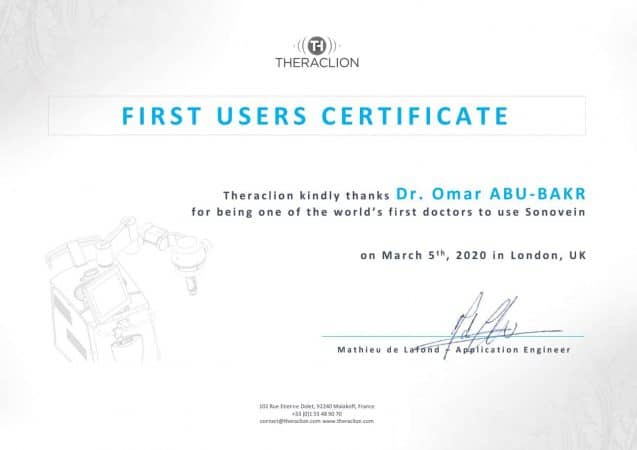 Certificate First Users Sonovein – Dr. Abu Bakr_1