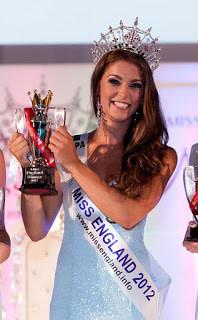 Charlotte Holmes winning Miss England 2012