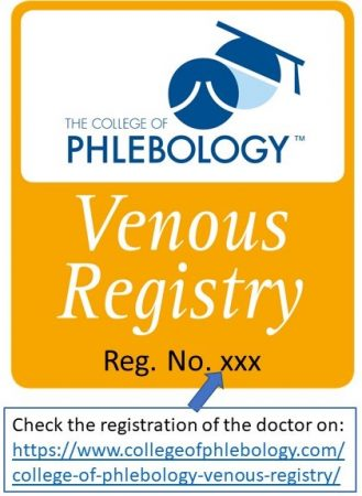 CoP International Venous Registry icon with registration number
