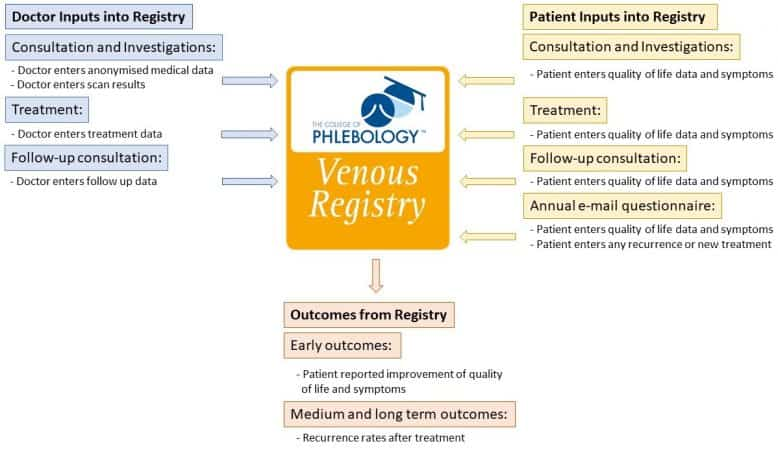 College of Phlebology Venous Registry Doctor and Patient Inputs and Outcomes from Registry