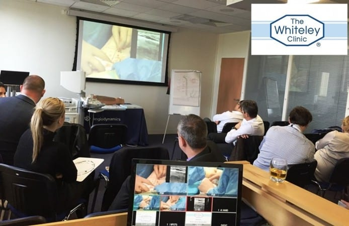 EVLT Varicose Veins Course - International Endovenous Laser Training Course at The Whiteley Clinic - March 2015