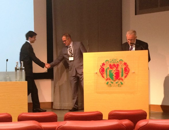 First Prize to Henry Ashpitel of The Whiteley Clinic and University of Surrey - Laser Treatment of Varicose Veins - Royal Society of Medicine 29 May 2015