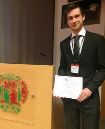 Henry Ashpitel of The Whiteley Clinic and University of Surrey wins frist prize for research into Laser Treatment of Varicose Veins - Royal Society of Medicine 29 May 2015