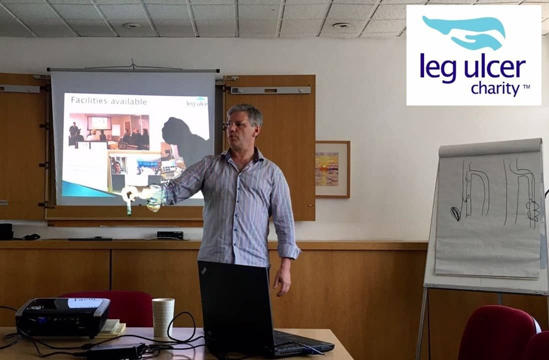 How to cure leg ulcer with local anaesthetic endovenous surgery Prof Mark Whiteley - giving a talk to Age Concern Croydon for Leg Ulcer Charity 21 June 2017