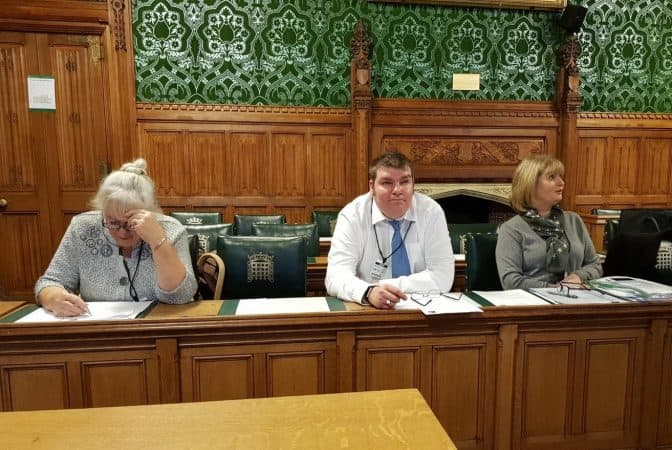 Janet Cassie James Turpin and Sister Susan Ostler of Whiteley Clinic at the Vascular and Venous All-Party Parliamentary Group in Westminster December 2018