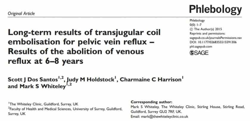 Long-term results of coil embolisation for pelvic varicose veins and pelvic vein reflux