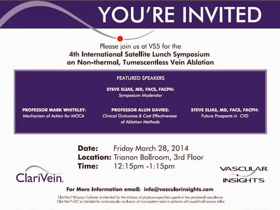 Venous Symposium invitation