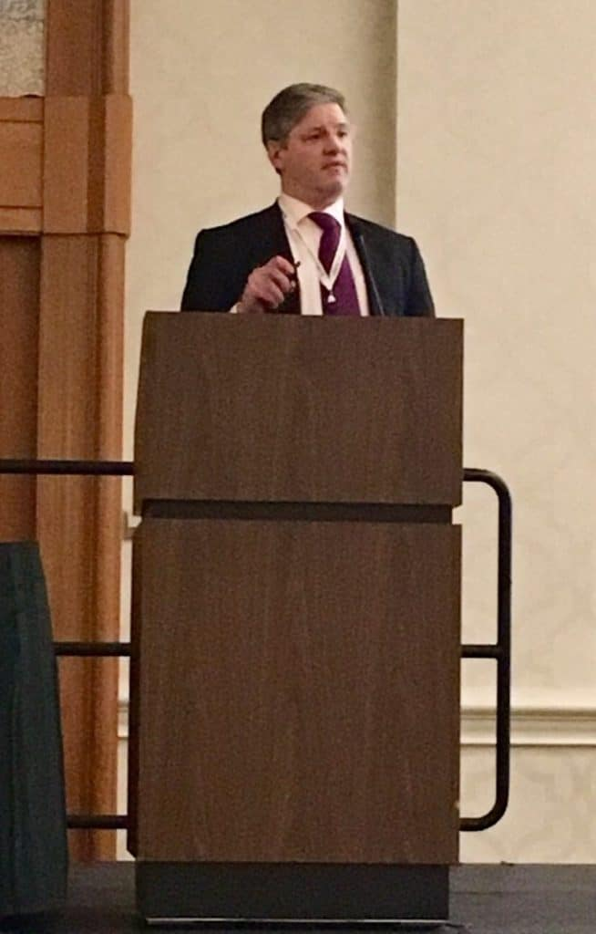 Mark Whiteley speaking about pelvic congestion syndrome at The American Venous Forum - Feb 2017
