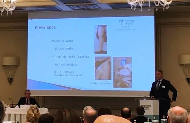 Mark Whiteley speaking about varicose veins and how the Whiteley Protocol gives the lowest recurrence rate possible
