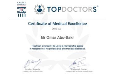 Mr Omar – TopDoctors Certificates