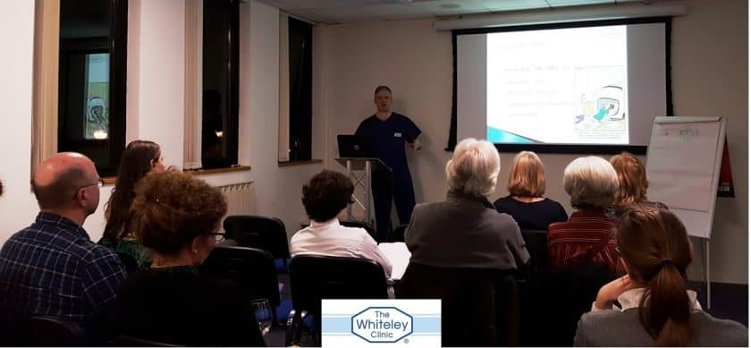 Pelvic pain and pelvic congestion syndrome - lecture by Prof Mark Whiteley Surrey Research Seminar series - 22 Feb 2017