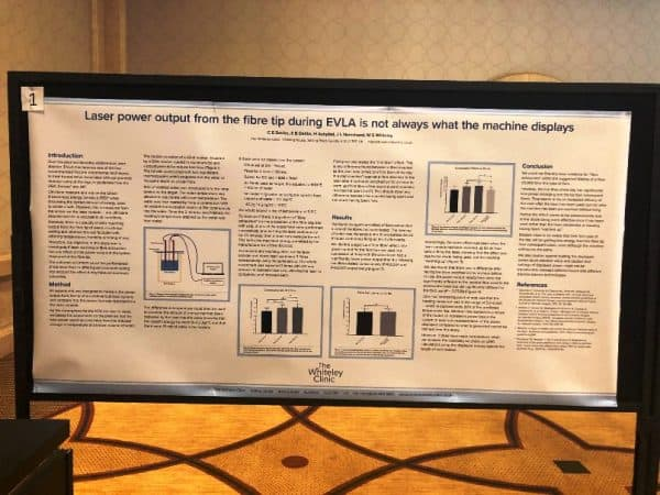 Prize Winning Poster on Varicose Veins Research from The Whiteley Clinic – 1st Prize for Best Research Poster AVF 2019