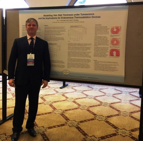 New varicose veins research - Prof Mark Whiteley - Presenting Poster about Varicose Veins treatments at the American Venous Forum Feb 2015