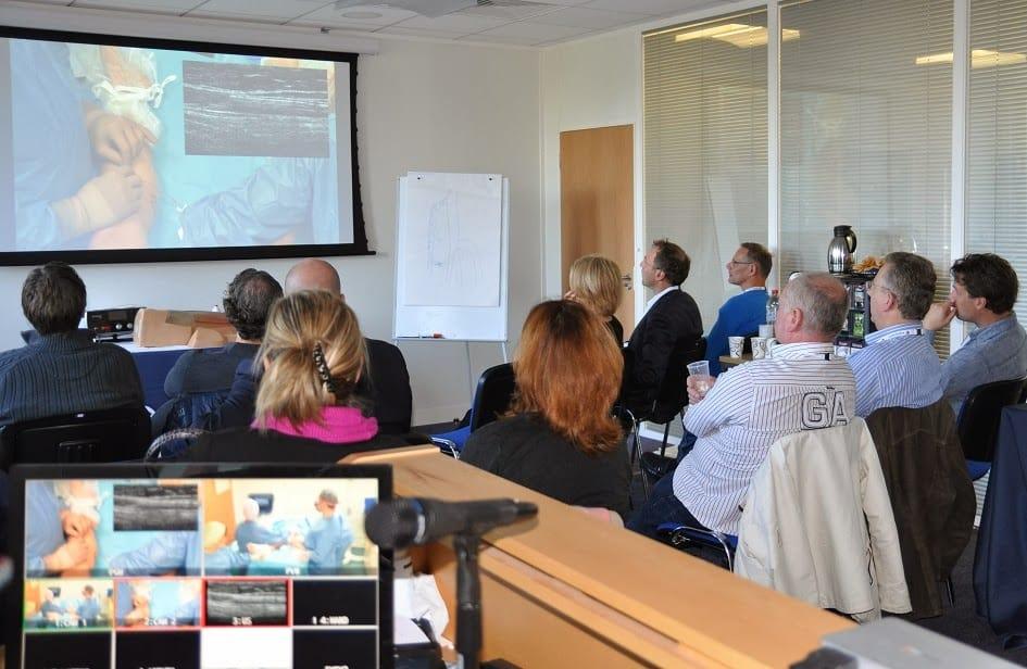 Delegates watching Prof Mark Whiteley