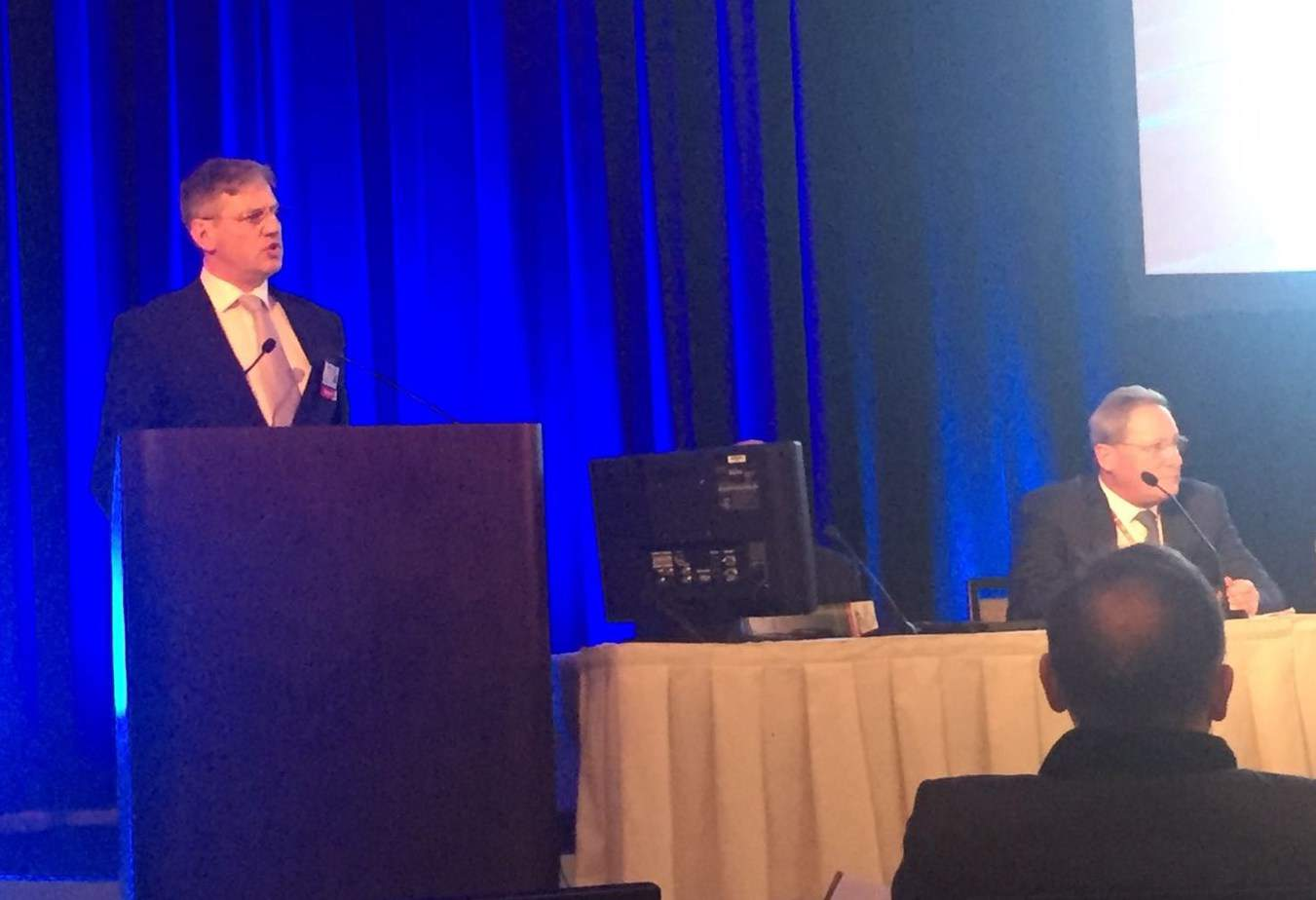 Prof Mark Whiteley talking about varicose veins and pelvic congestion at Veith in New York Nov 2016
