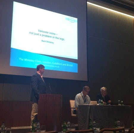Prof Mark Whiteley talking about varicose veins at the Independent Doctors Federation in Algarve 4 Oct 2015