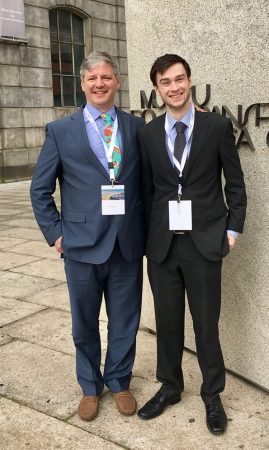 Prof Mark Whiteley with Harry Ashpitel - PhD Student at The Whiteley Clinic and University of Surrey - at EVF 2017