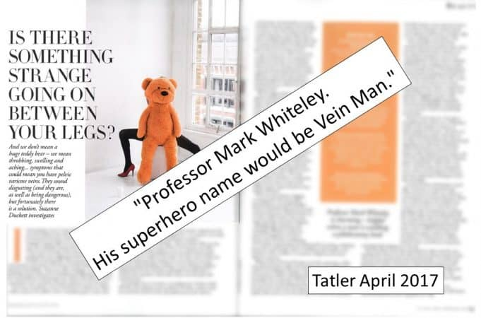 Professor Mark Whiteley - Vein Man - Tatler 2017
