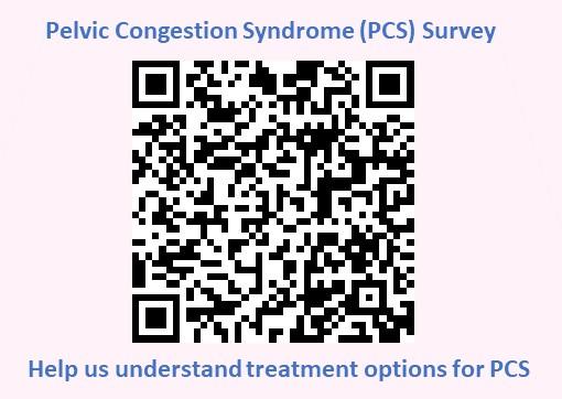 QRS code for PCS Device Survey – pelvic congestion on Social Media (2)