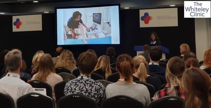 Rachel Walker presenting the patient experience of HIFU Sonovein treatment of her own varicose veins – Nov 2019