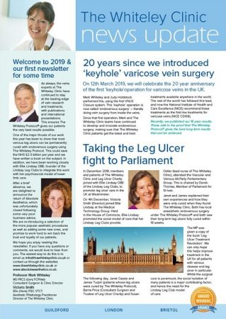 The Whiteley Clinic and Absolute Aesthetics newsletter Spring 2019