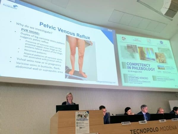 Ultrasound Assessment of Pelvic Reflux – Angie White of The Whiteley Clinic – Modena May 2019