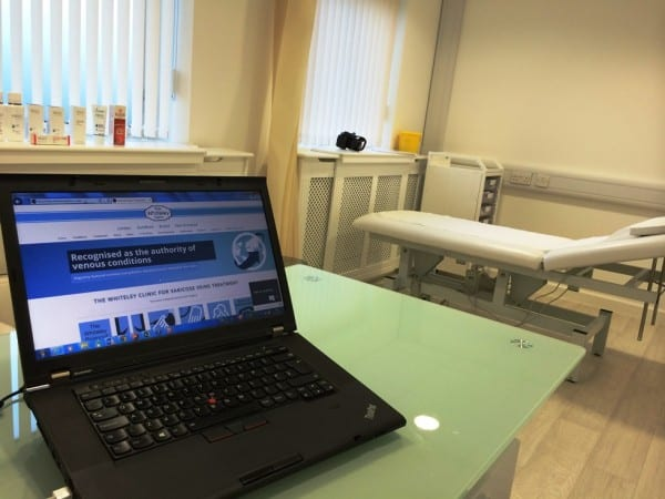 The Whiteley Clinic has its first varicose veins clinic in East Grinstead today