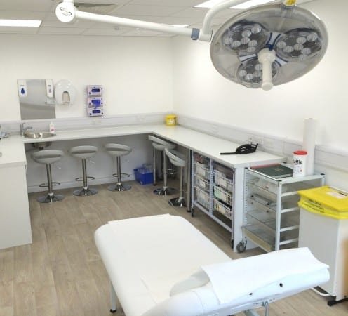 Operating theatre at The Whiteley Clinic in East Grinstead at McIndoe Hospital - First clinic 25th September 2014
