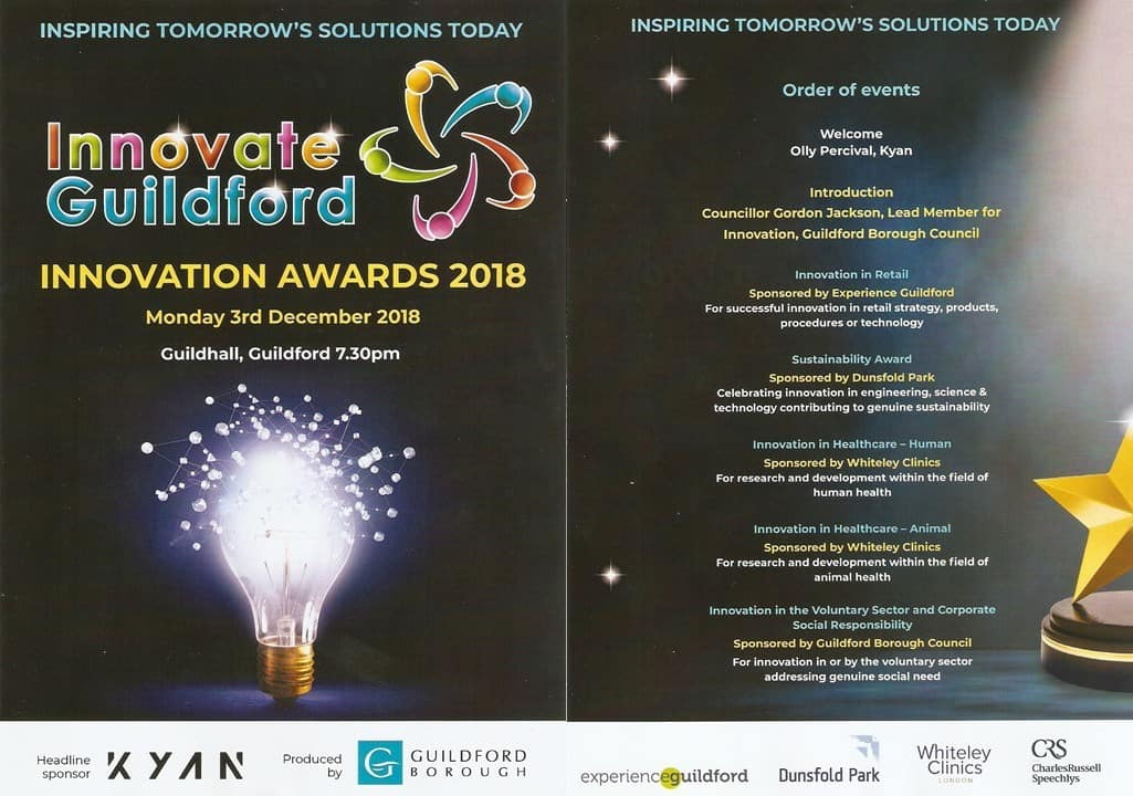 The Whiteley Clinic sponsors Innovation in Healthcare Award