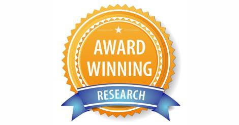 Award winning research rosette