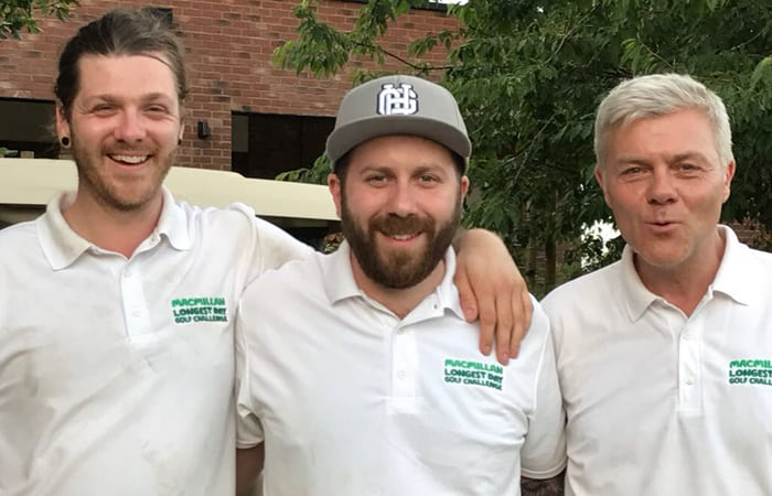 Longest Day Golf Challenge - Charlie and team