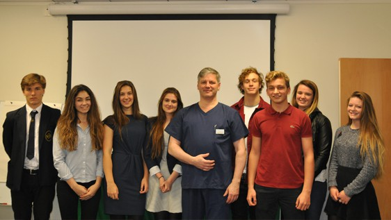 Pre Med course - Students with Mark Whiteley