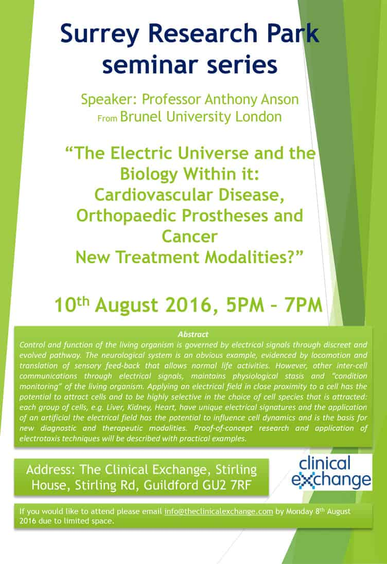 Surrey Reseach Park Seminar Series - Anthony Anson